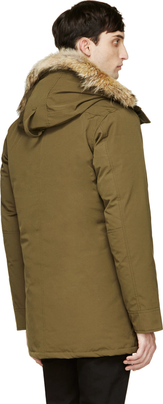 Canada Goose montebello parka replica authentic - Canada goose Chateau Parka in Green for Men | Lyst