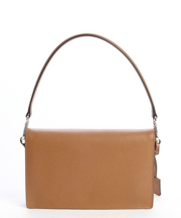 Prada Saffiano Convertible Shoulder Bag in Brown (caramel) | Lyst - prada galleria bag white + black + caramel