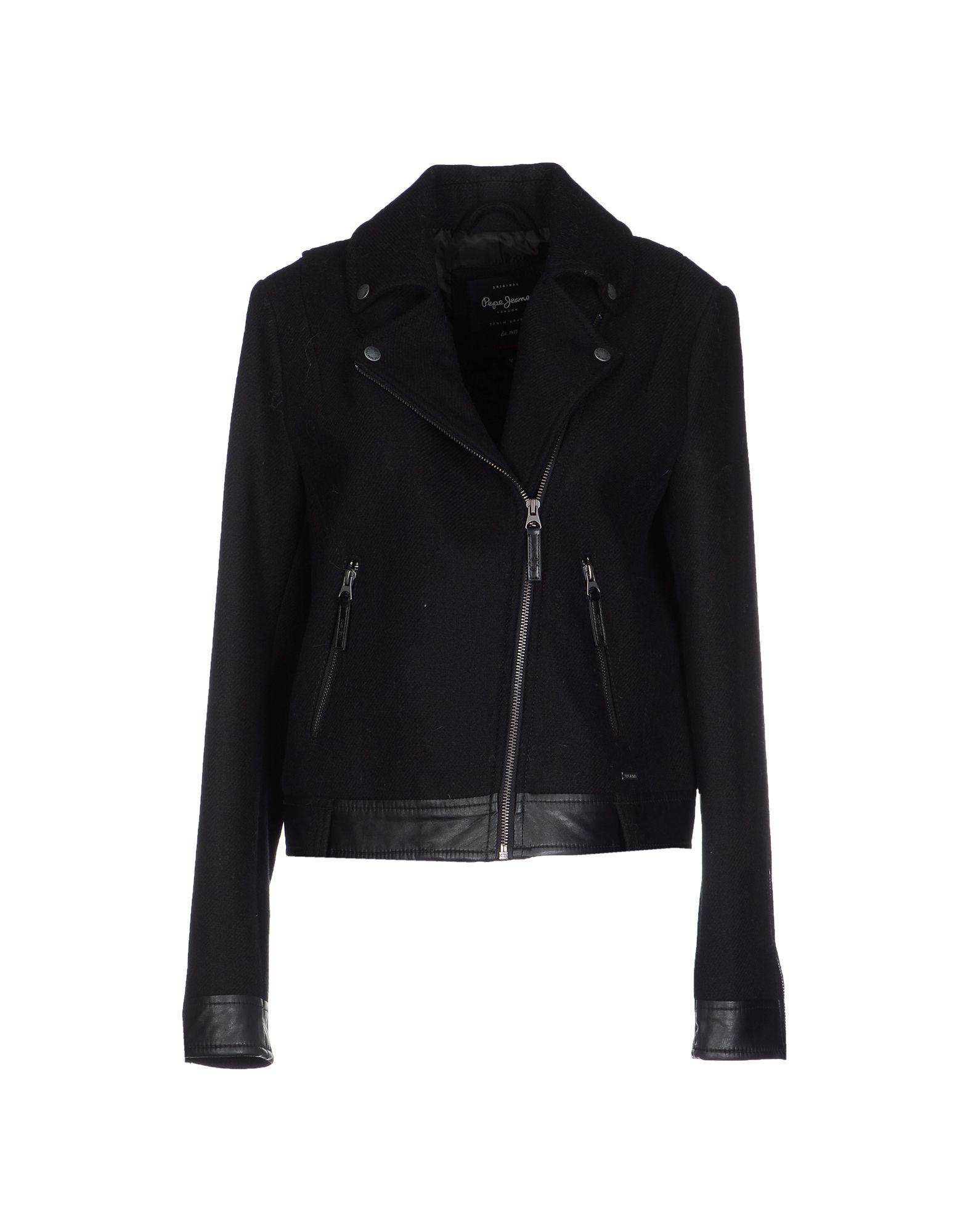 lyst pepe jeans jacket in black. Black Bedroom Furniture Sets. Home Design Ideas