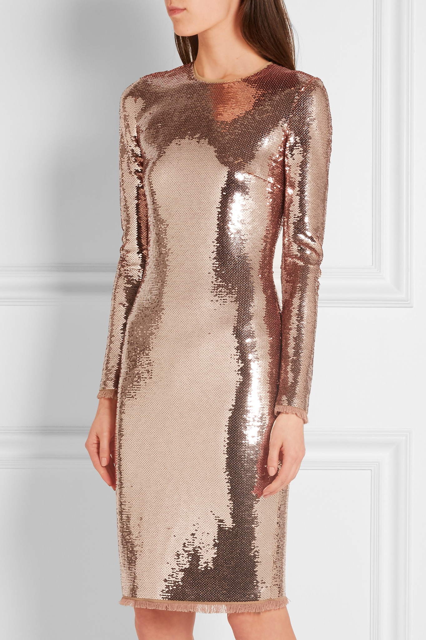 Tom ford Sequined Tulle Dress in Metallic