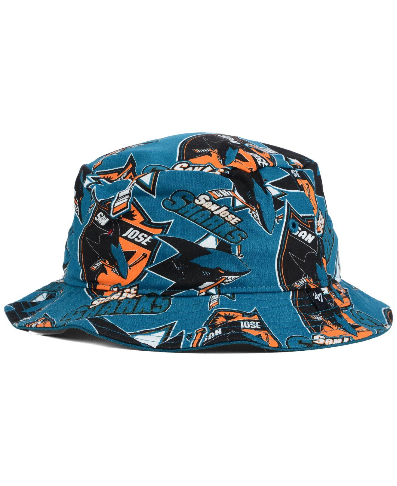 fb8ad73e882 Lyst - 47 Brand San Jose Sharks Bucket Hat in Blue