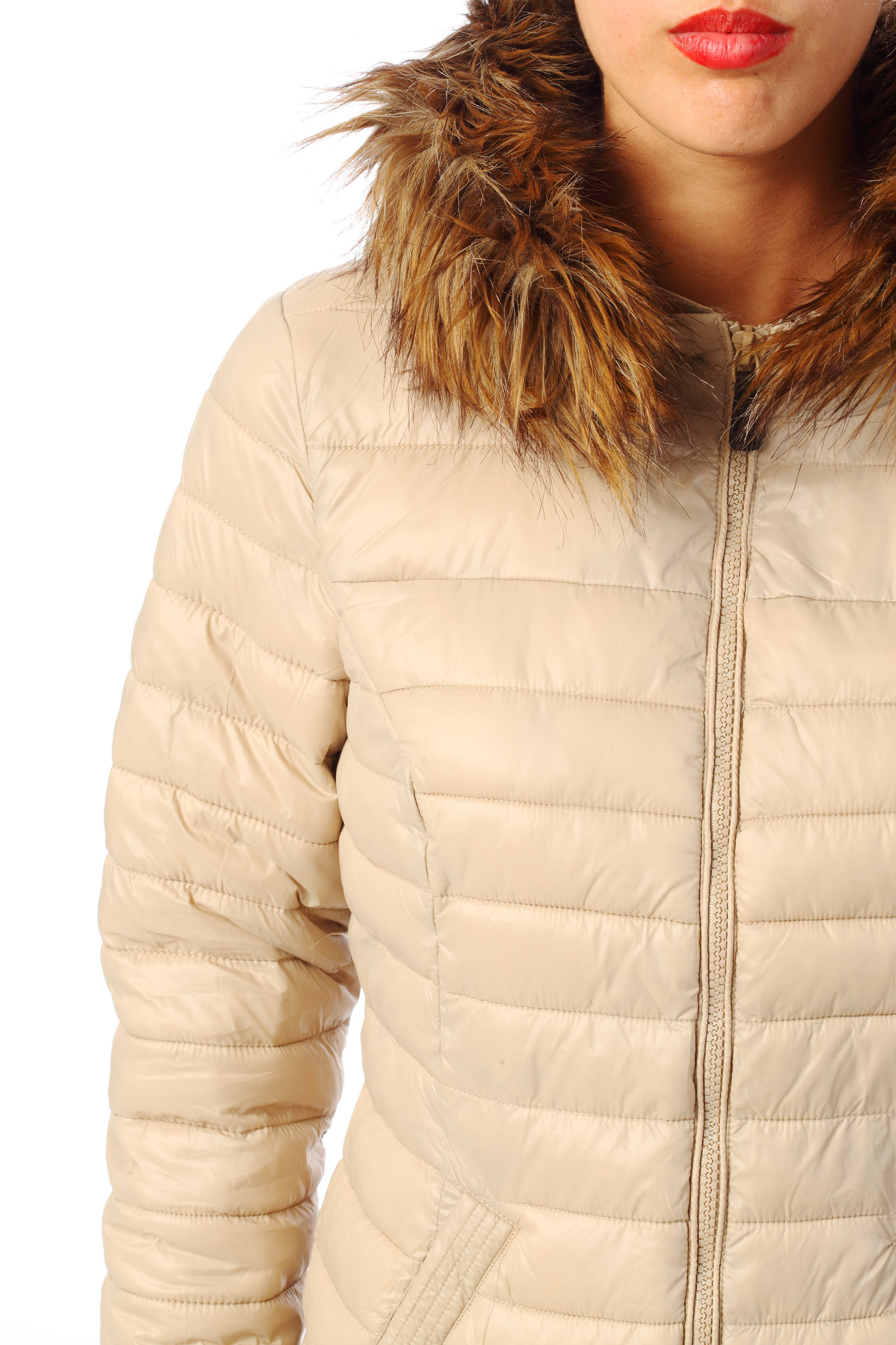 Vero Moda Quilted Jacket In Natural Lyst