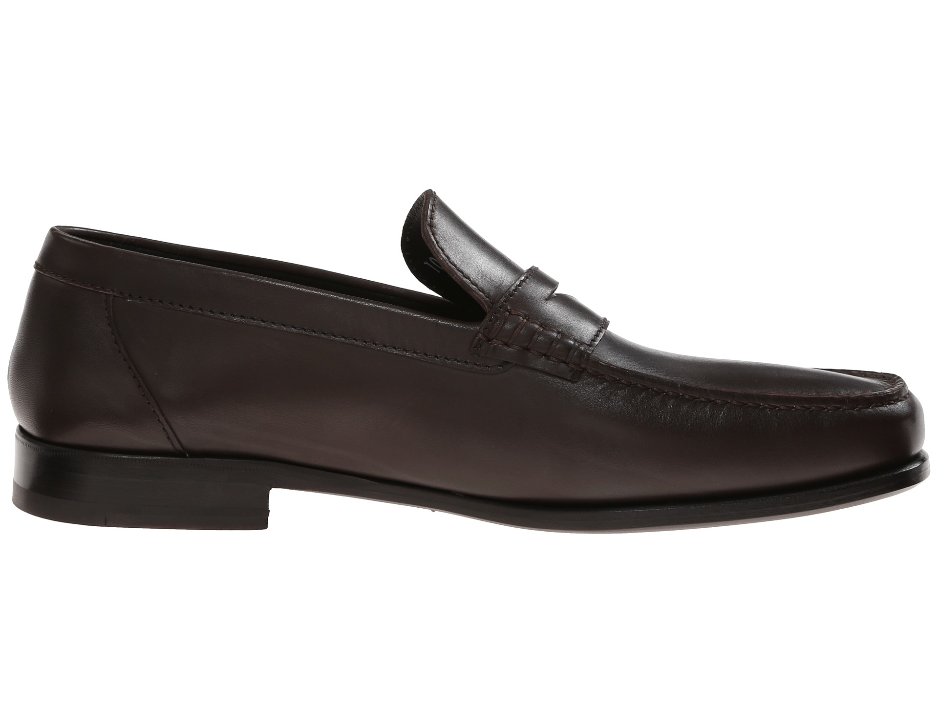 A.Testoni Plain Calf Penny Loafer Mocassin in Brown for ...