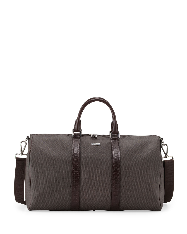Ferragamo New Form Mens Duffel Bag In Brown For Men Lyst