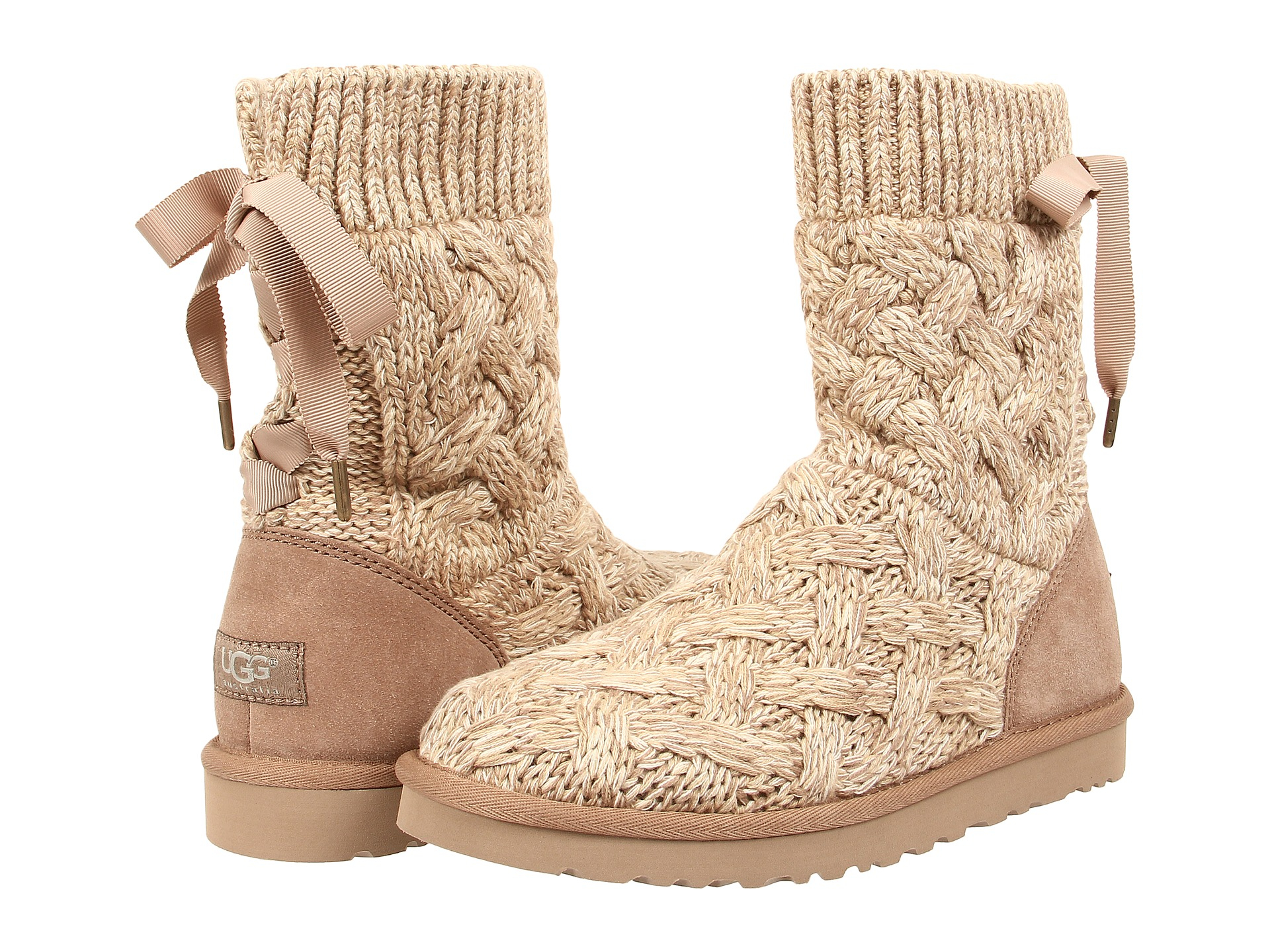 knit uggs with bow