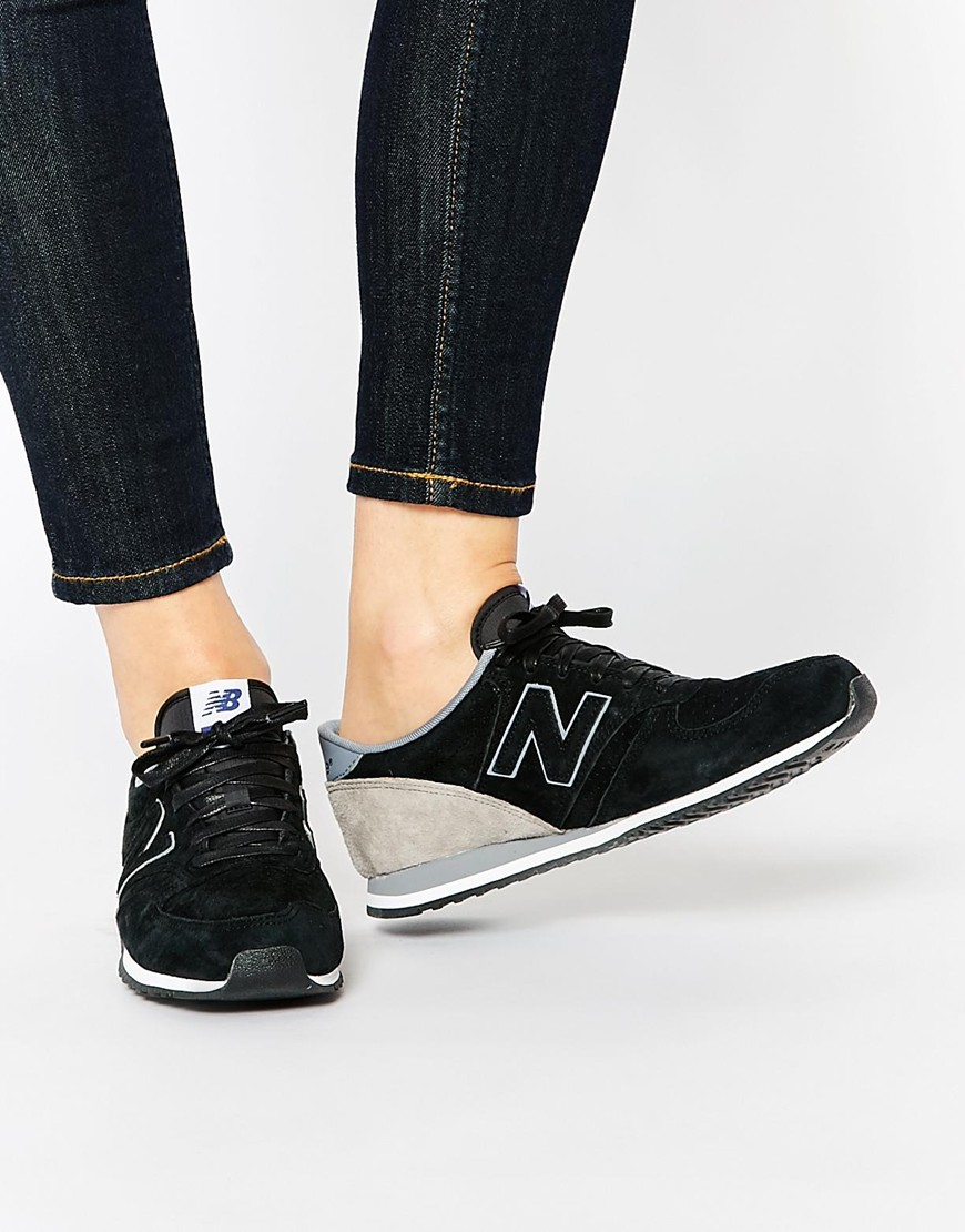 New Balance 420 Black And Grey Suede