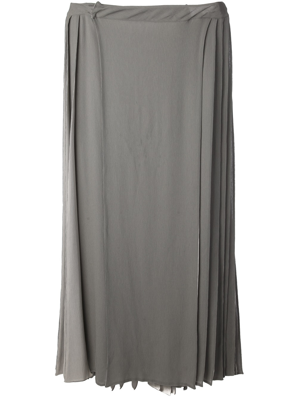 ed6a4862ea Gareth Pugh Pleated Maxi Skirt in Gray for Men - Lyst