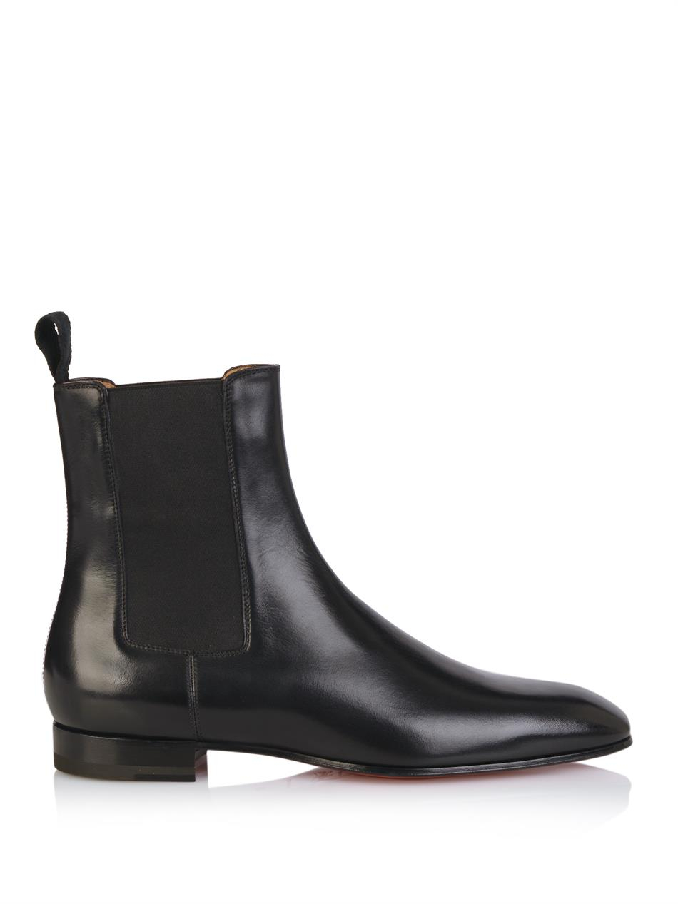 lyst christian louboutin broadie leather chelsea boots