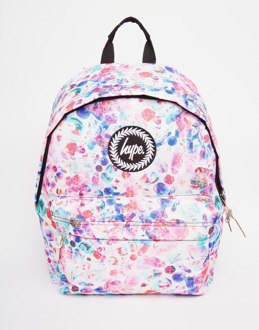 dcdb01500948 Lyst - Hype Backpack In Multi Coloured Spot Print