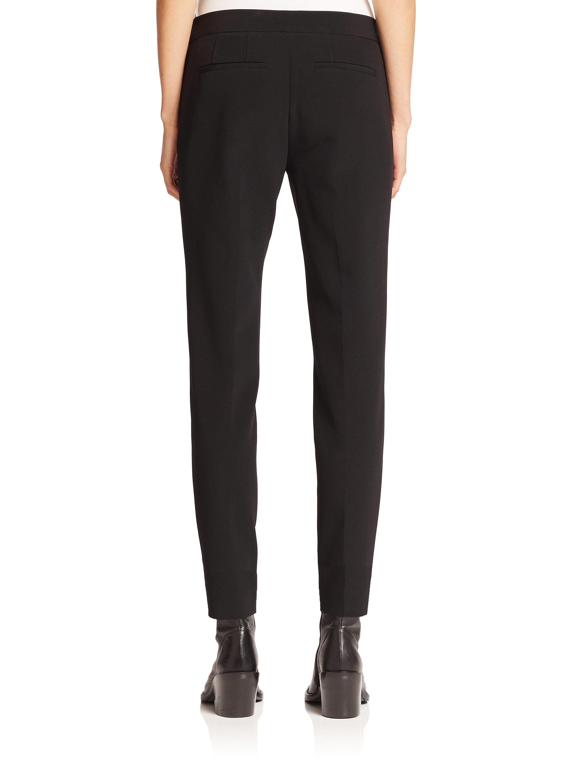 Lyst Dkny Side Zip Knit Pants In Black