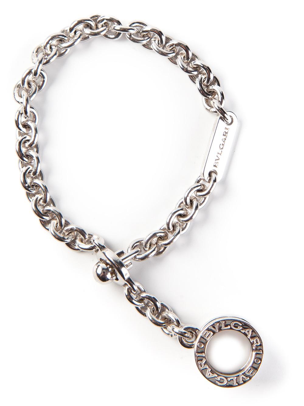 Lyst Bvlgari Chunky Chain Bracelet In Metallic