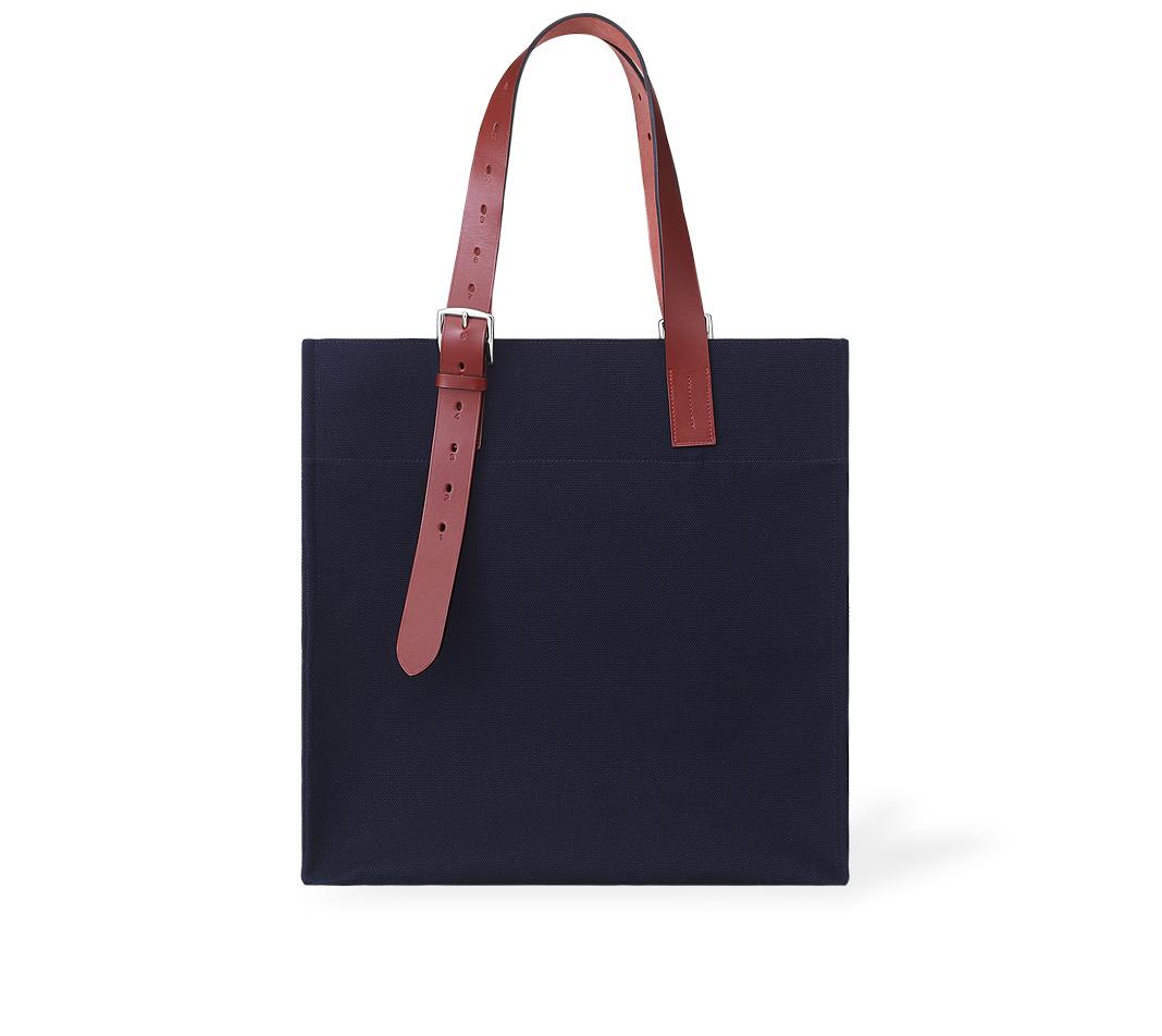 genuine birkin bag - Herm��s Etriviere Shopping in Blue (navy blue/H red) | Lyst