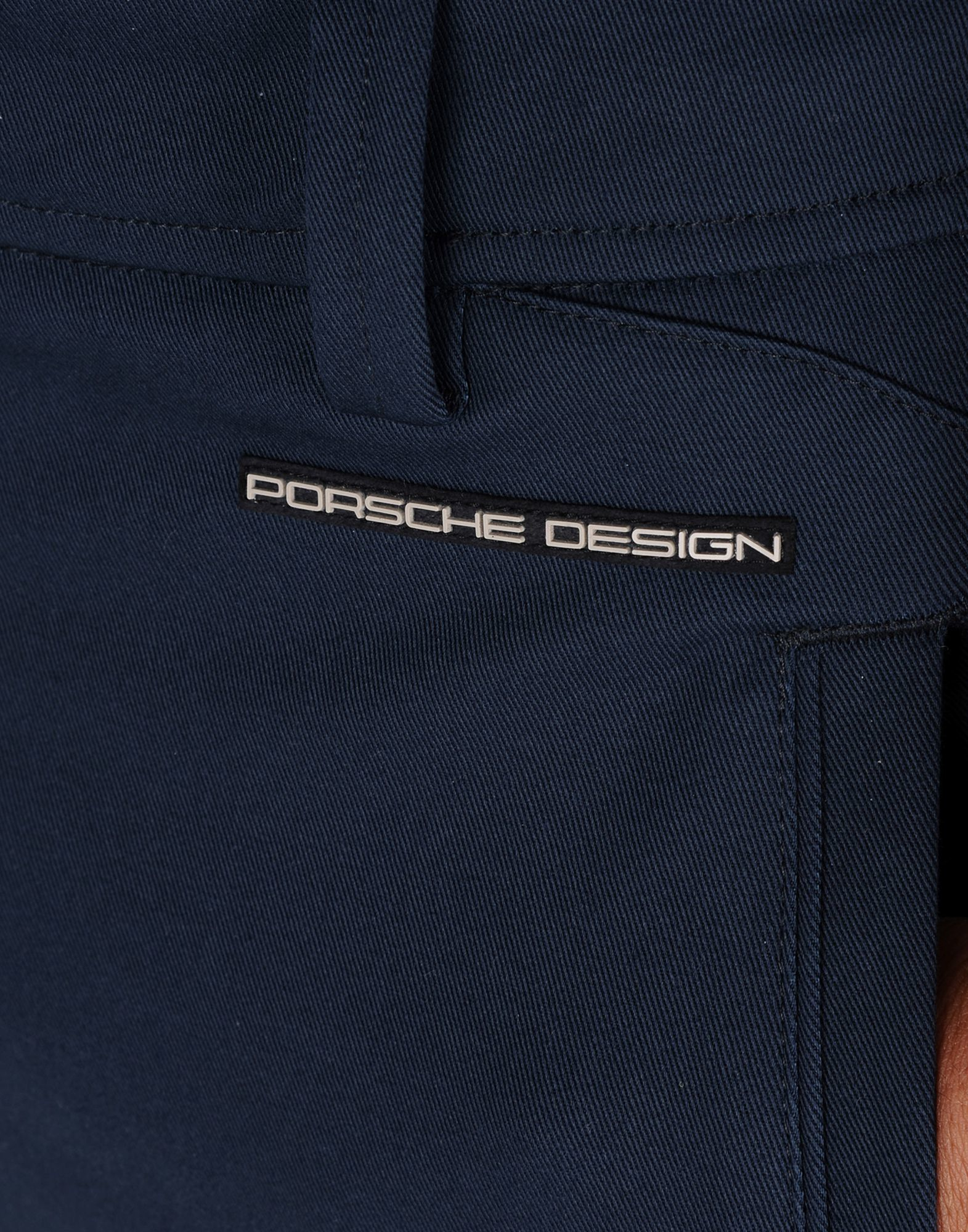 Porsche Design Cotton Casual Trouser in Black (Blue) for Men