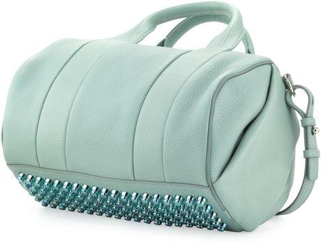 alexander wang rocco studbottom satchel bag peppermint in. Black Bedroom Furniture Sets. Home Design Ideas