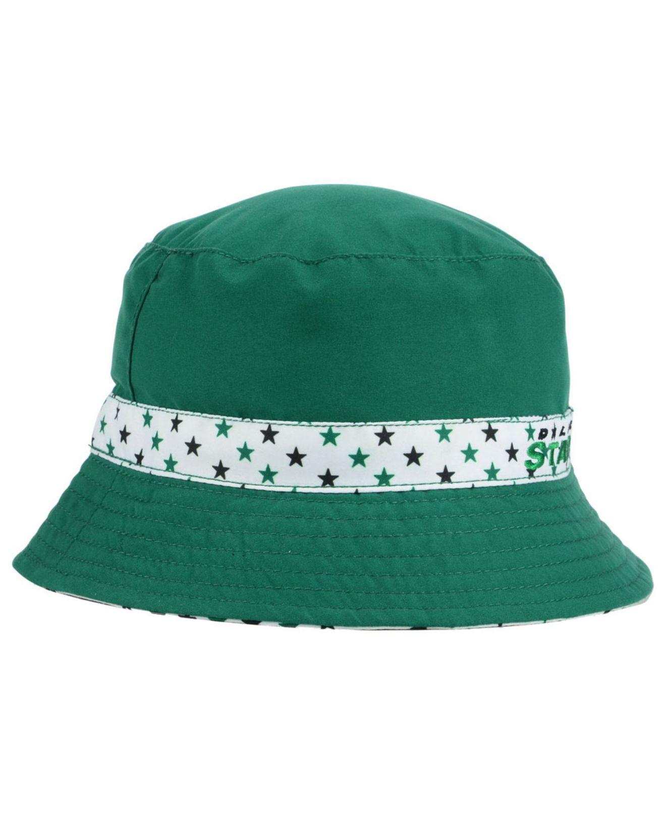 buy online 3ee66 2c3a3 ... get lyst ktz kids dallas stars reversible bucket hat in green fc396  9ad66