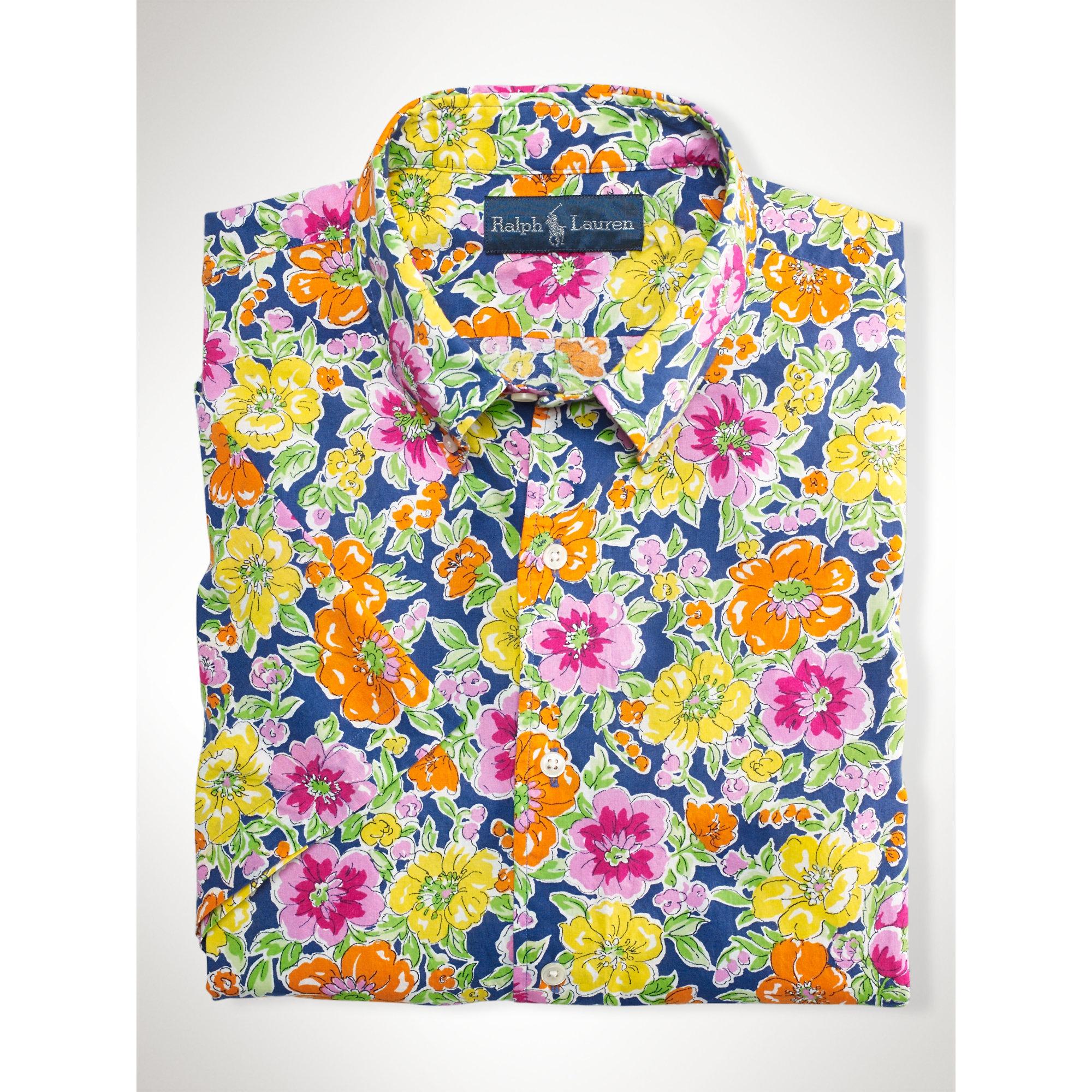 431b6e175b83b Lyst - Polo Ralph Lauren Custom-fit Floral Shirt for Men