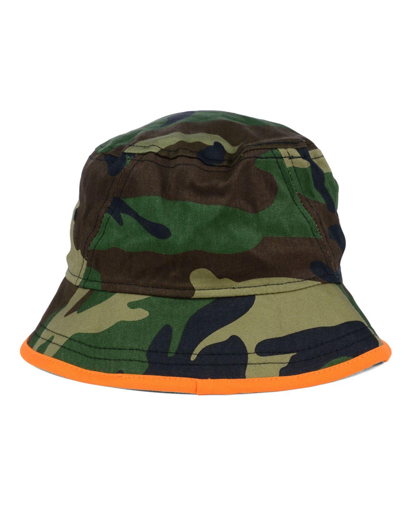 314758cef5f ... usa miami dolphins bucket hat lyst ktz miami dolphins camo pop bucket  hat in green for ...