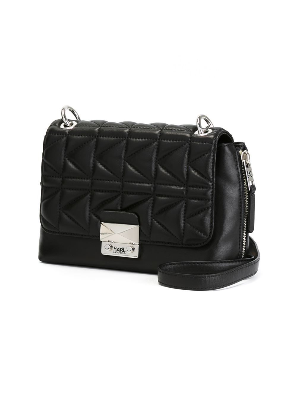 Lyst Karl Lagerfeld Quilted Crossbody Bag In Black