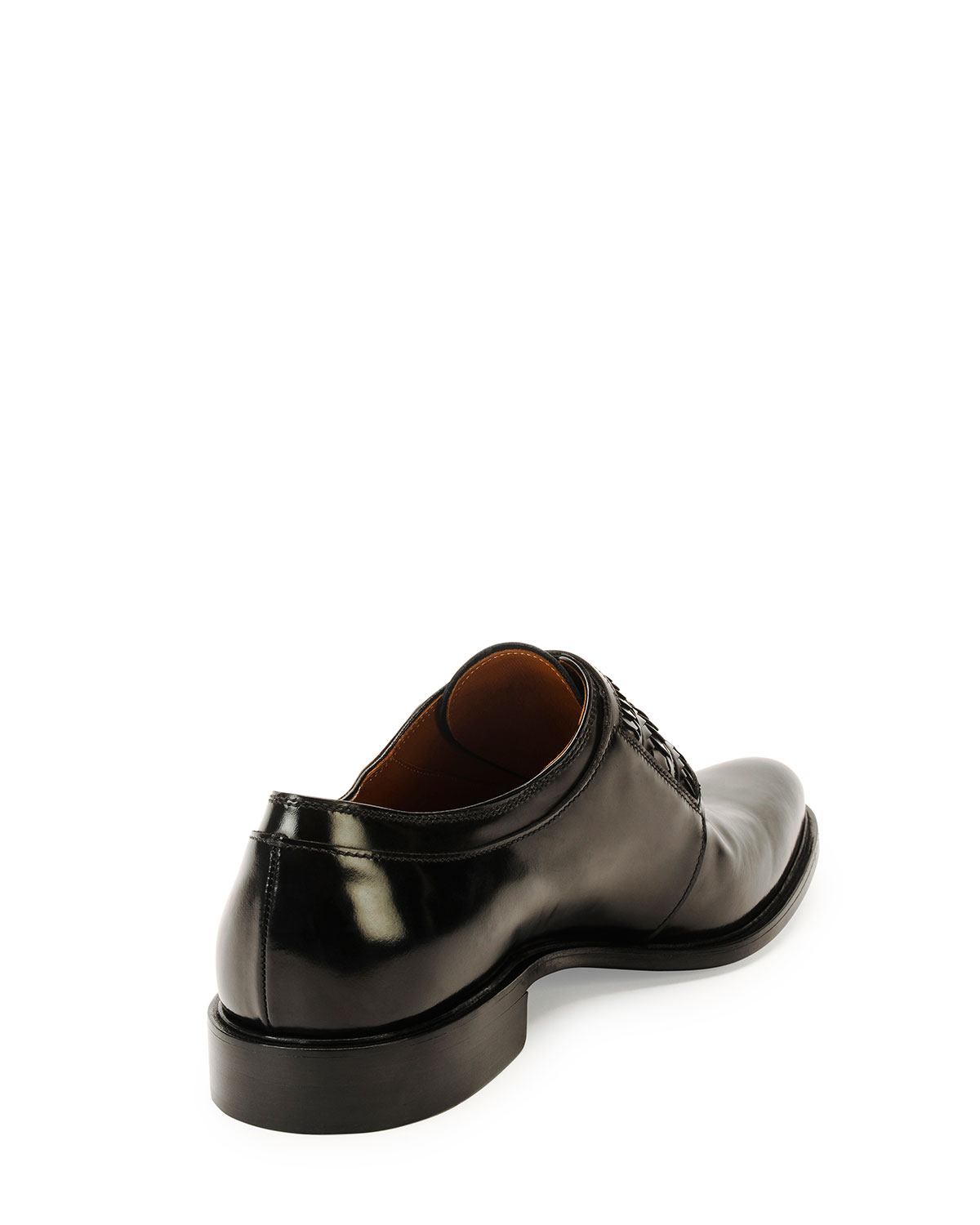 Givenchy Napoleone Leather Double Monk Shoe In Black For