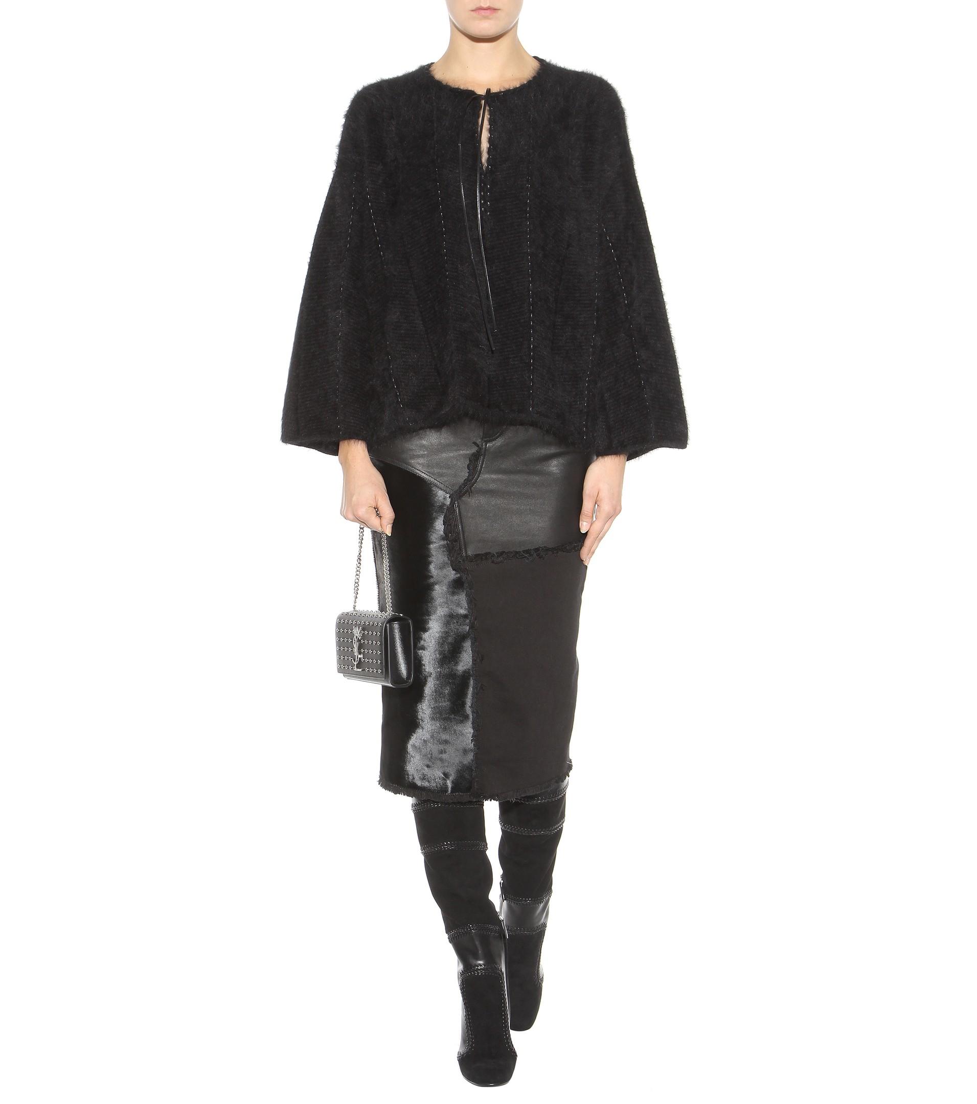 tom ford leather skirt in black lyst. Black Bedroom Furniture Sets. Home Design Ideas