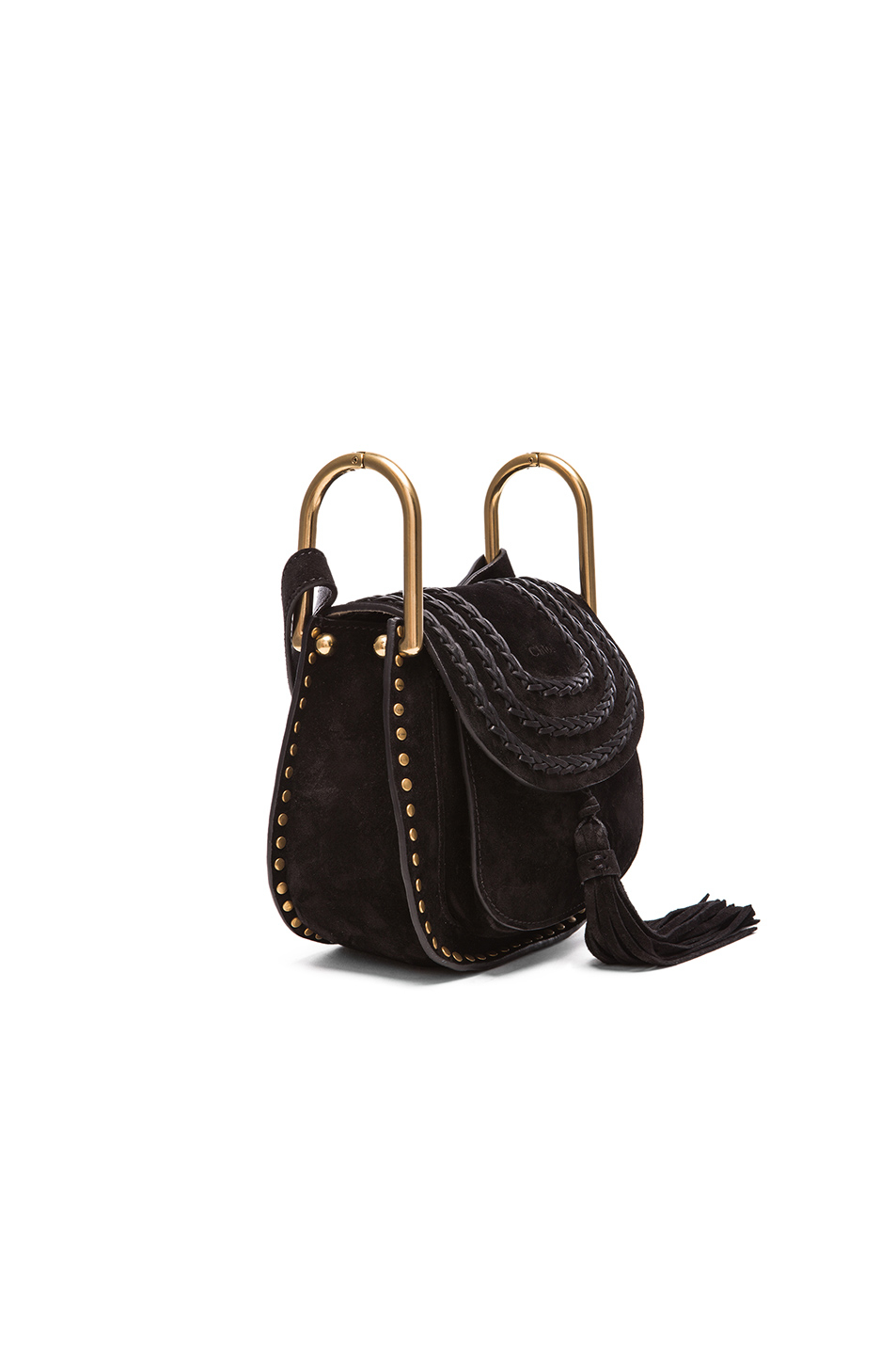 see by chloe purse - Chlo�� Mini Studded Suede Hudson Bag in Black   Lyst