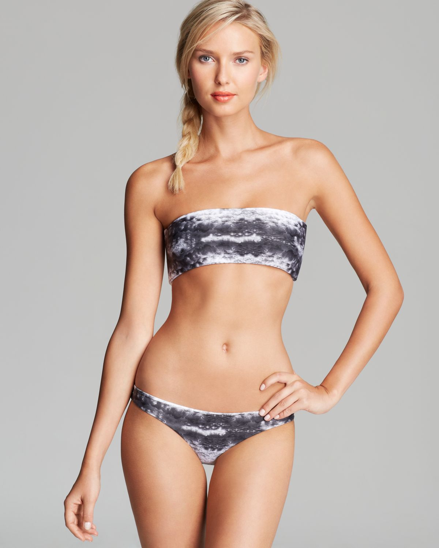 mikoh swimwear kauai bandeau bikini top in black lyst. Black Bedroom Furniture Sets. Home Design Ideas