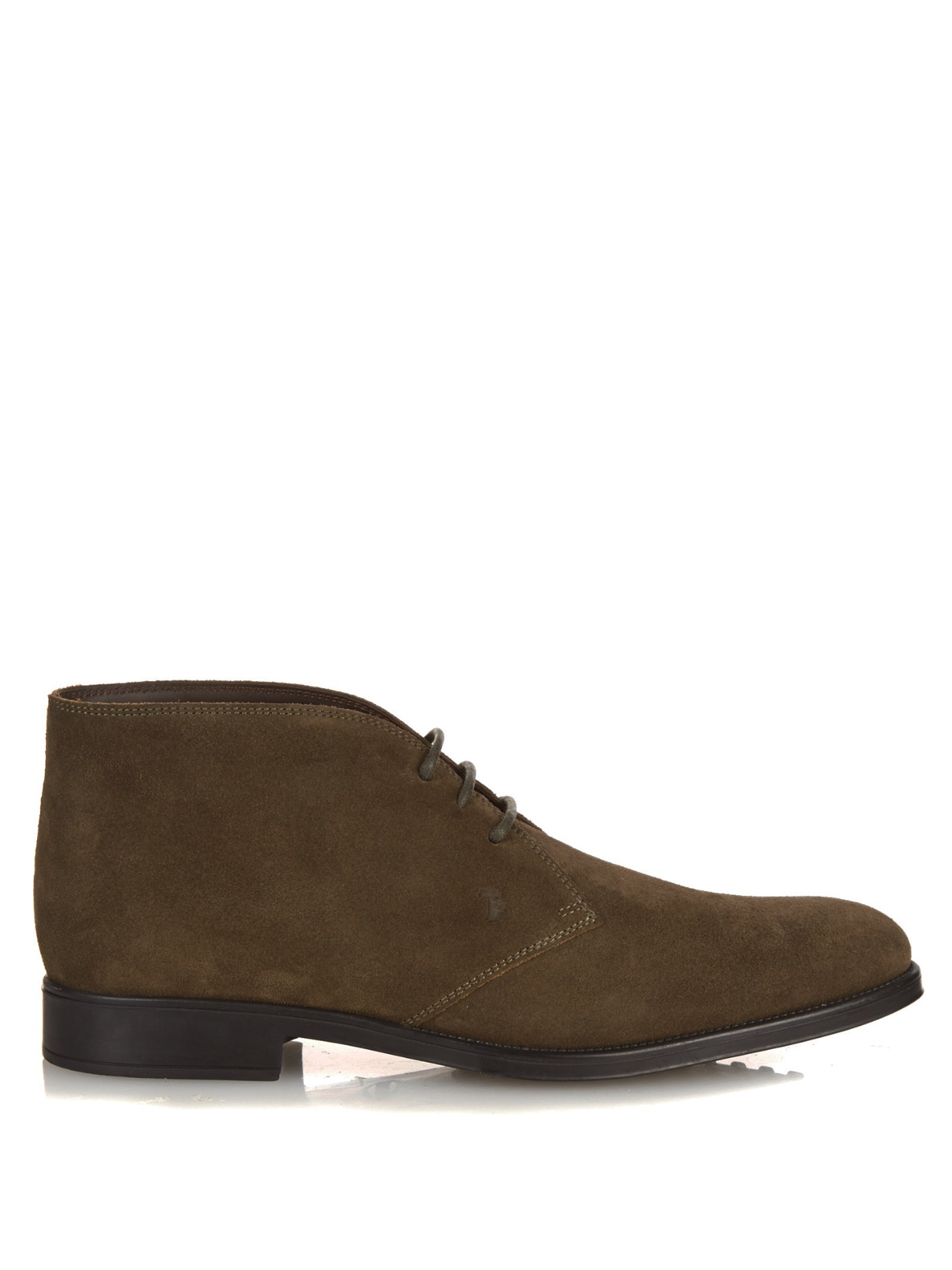 tod 39 s polacco suede desert boots in brown for men lyst. Black Bedroom Furniture Sets. Home Design Ideas