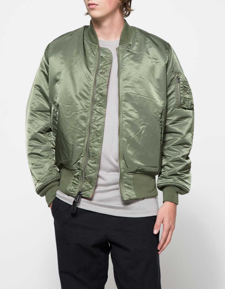 Alpha industries Ma-1 Flight Jacket In Sage in Green for Men | Lyst