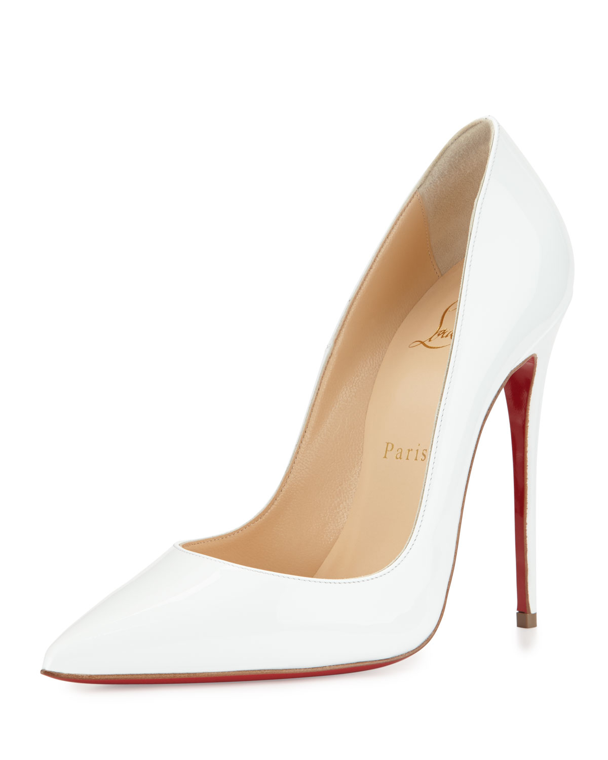 9434801cc52 Christian Louboutin White So Kate Patent 120mm Red Sole Pump