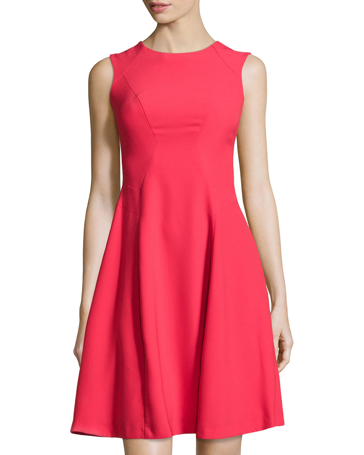 Lyst Ivy Amp Blu Sleeveless Fit And Flare Dress In Red