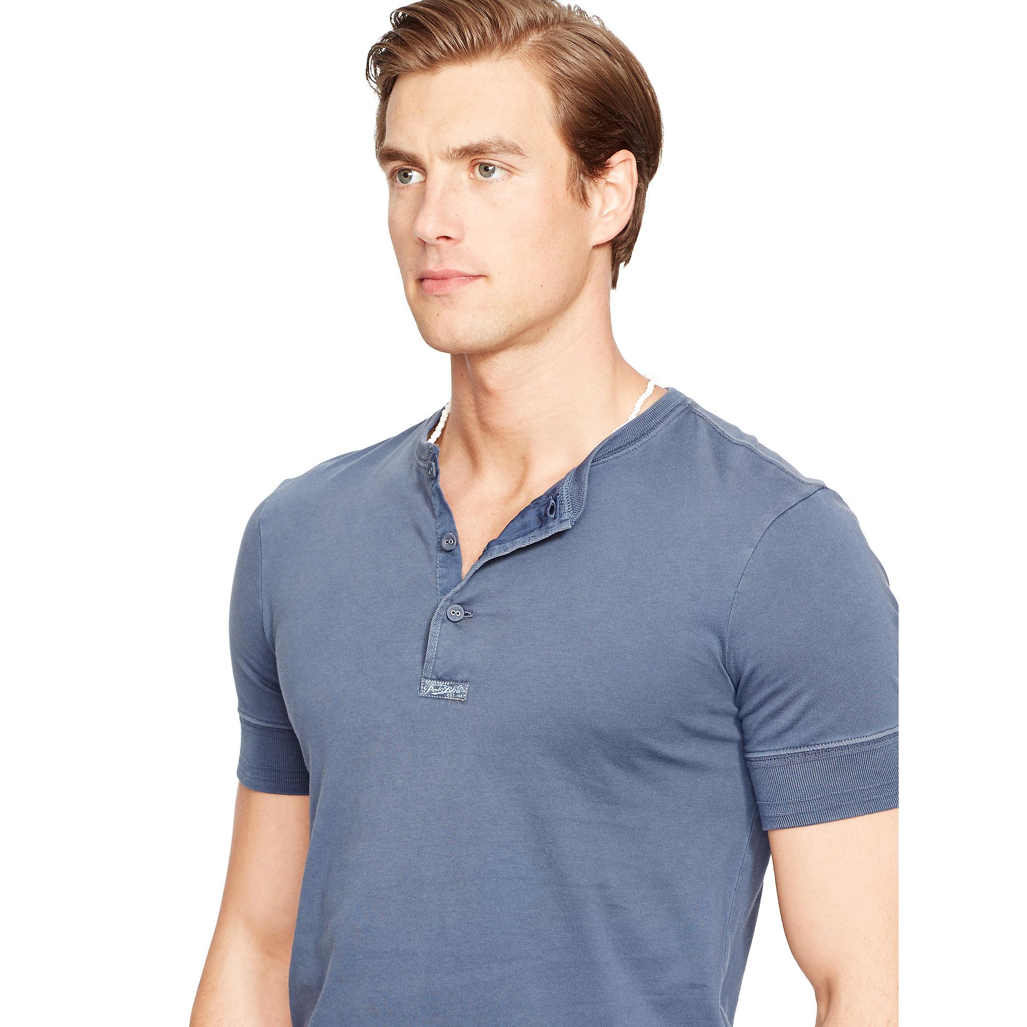 Henley Shirt Men Short Sleeve