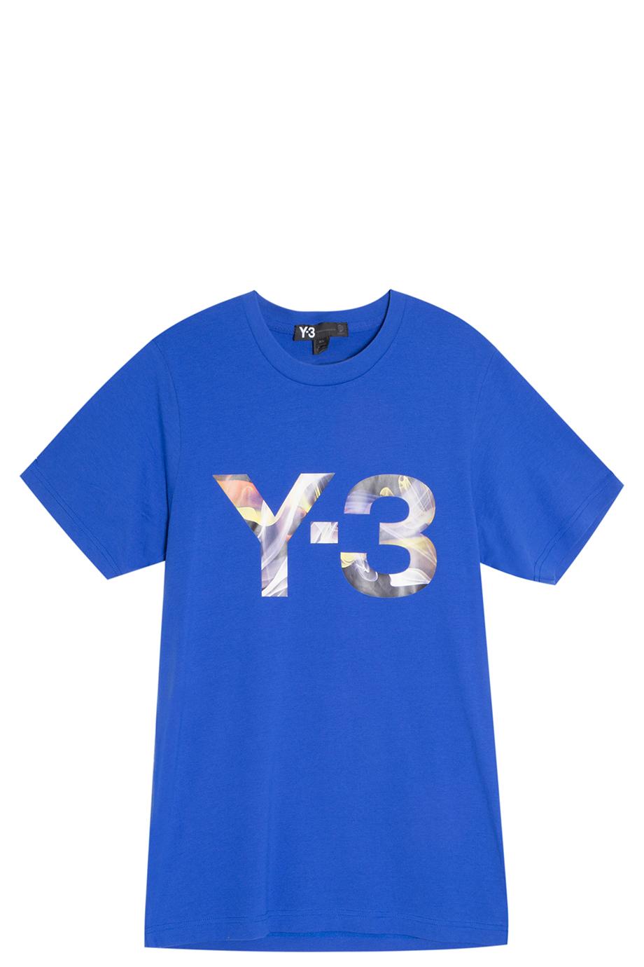 Y-3 Rainbow Logo T-shirt in Blue for Men   Lyst