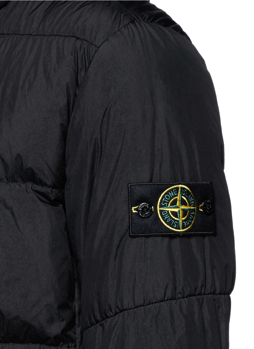 ff106370a Stone Island Black Crinkle Reps Water-Resistant Quilted Jacket for men