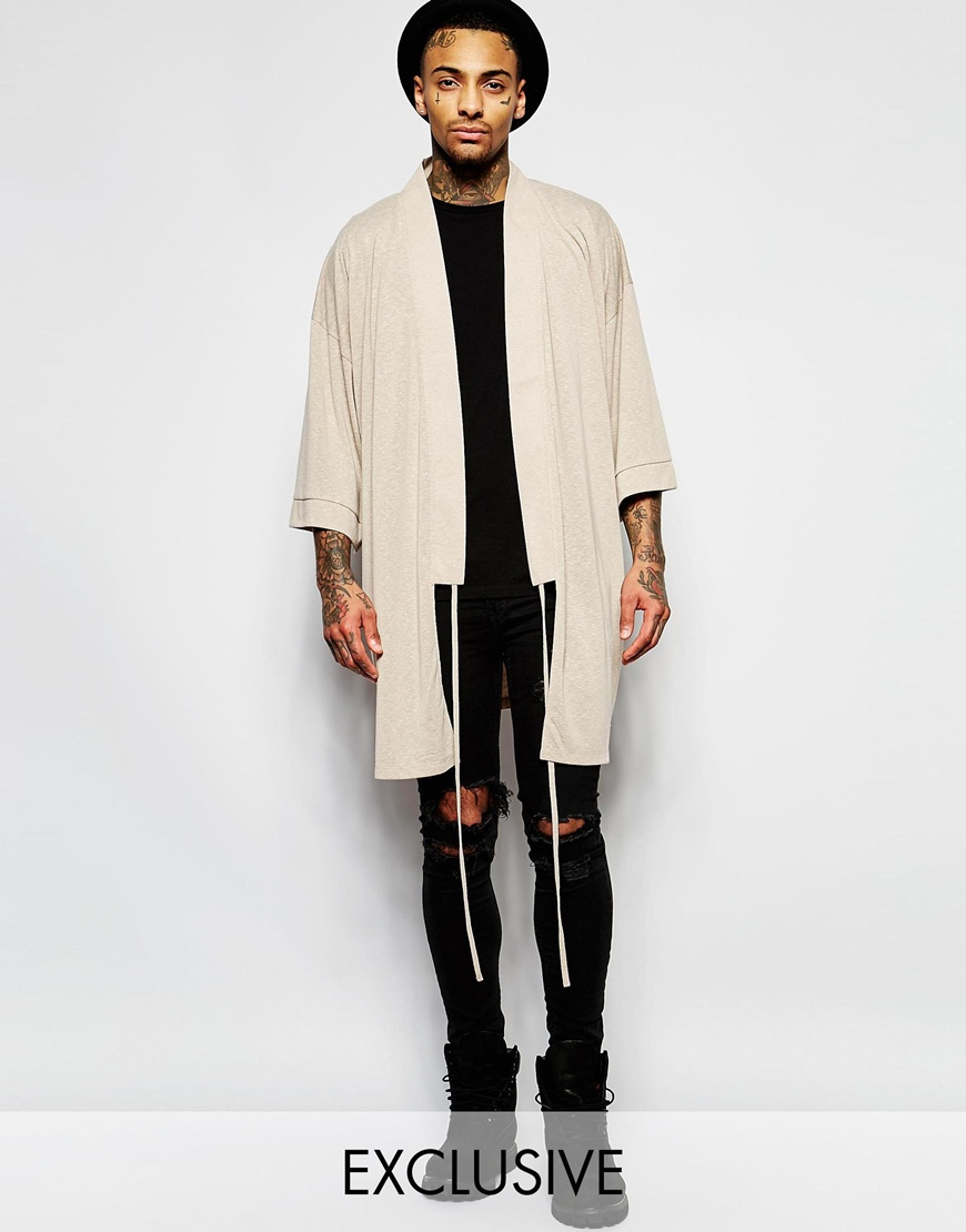 Granted Longline Kimono in Natural for Men | Lyst