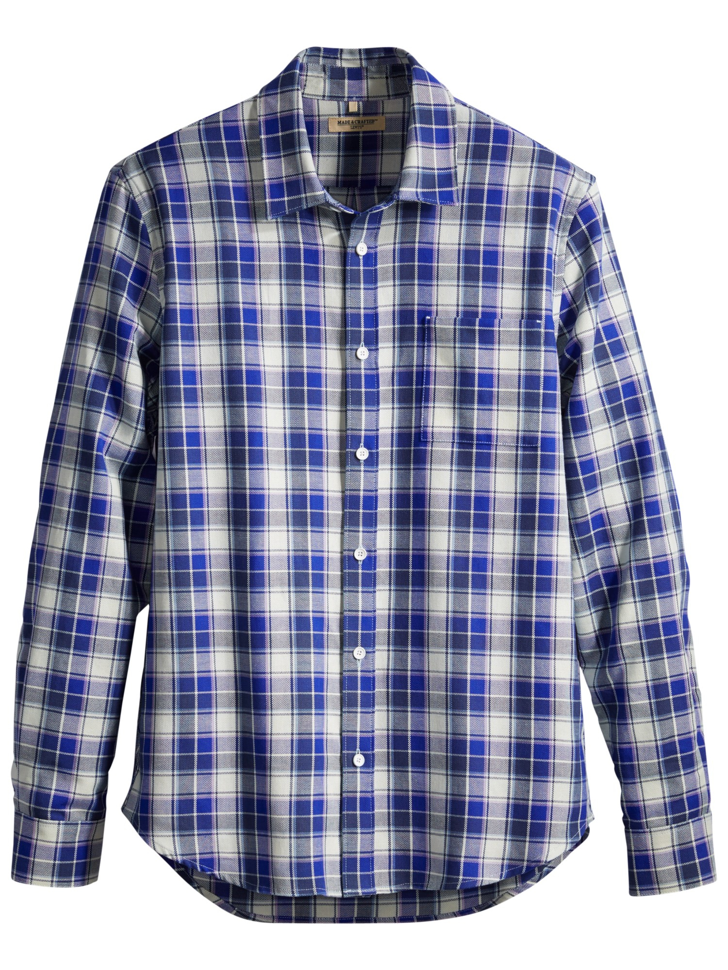 Lyst levi 39 s made crafted shirt in blue for men for Levis made and crafted shirt