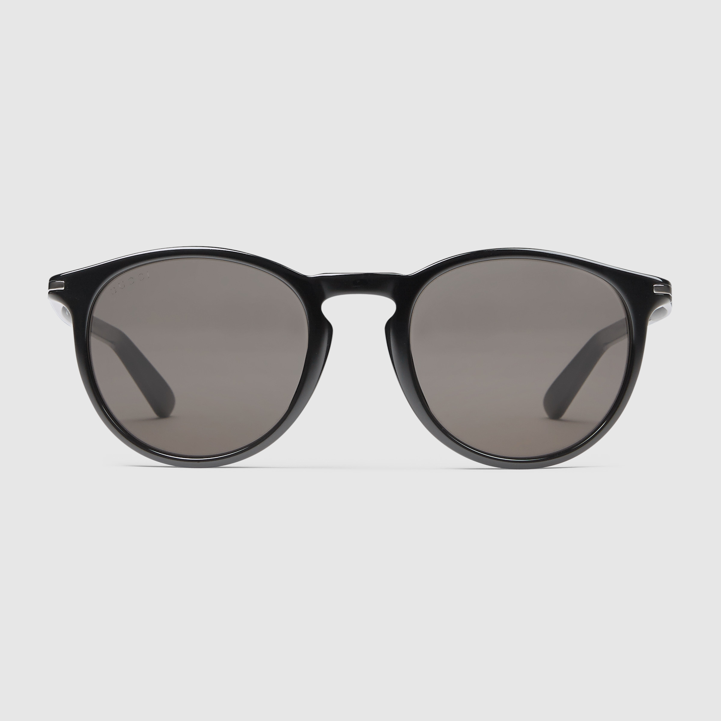 Lyst - Gucci Round-frame Acetate And Metal Sunglasses in Black for Men