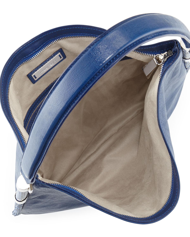 f2d7a80100 Jimmy Choo Zoe Medium Leather Hobo Bag Cobalt in Blue - Lyst