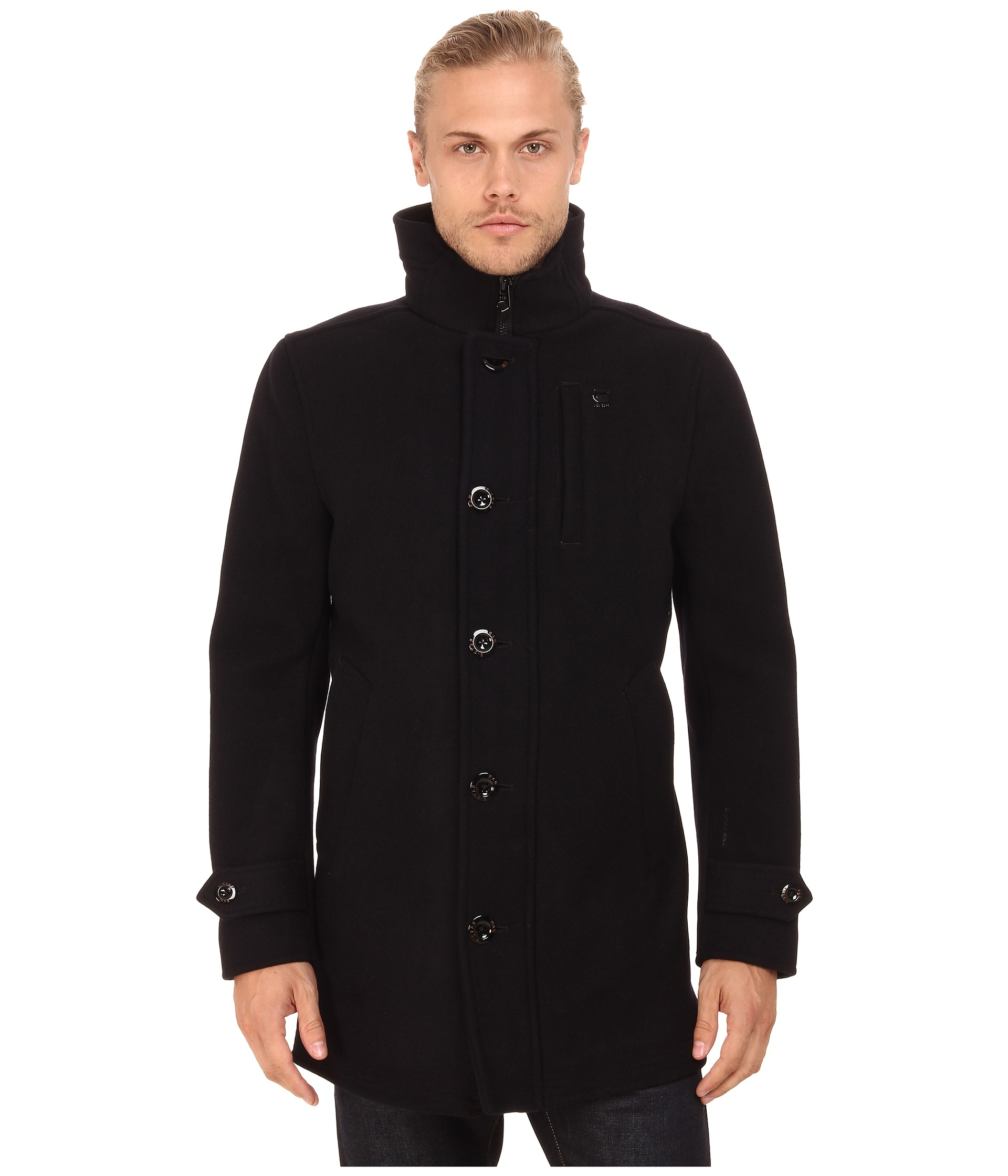 lyst g star raw wool garber trench coat in blue for men. Black Bedroom Furniture Sets. Home Design Ideas