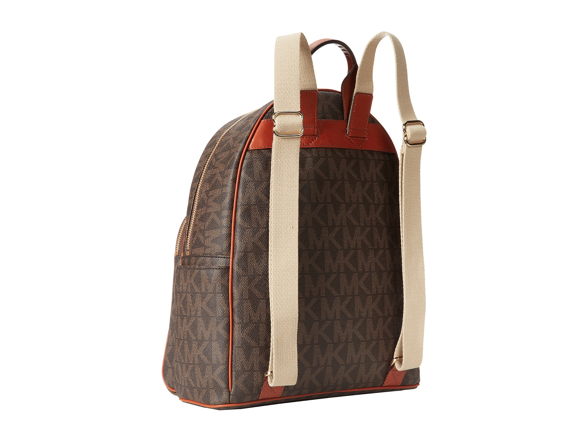 3e0381cf1e32 ... get lyst michael michael kors jet set item large back pack in brown  fa8a3 716f9