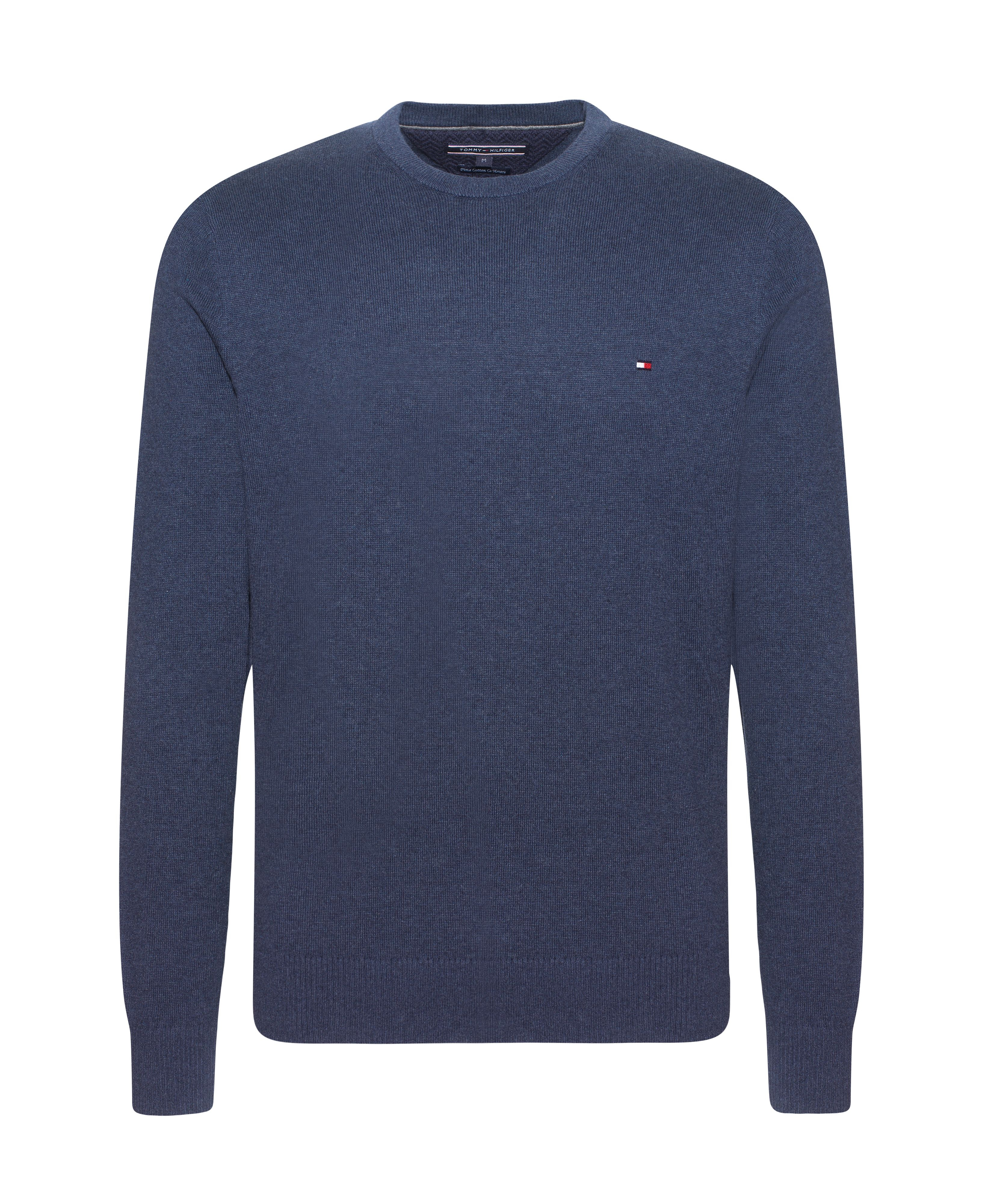 Tommy hilfiger Pima Cotton Cashmere Crew-neck Sweater in Blue for ...