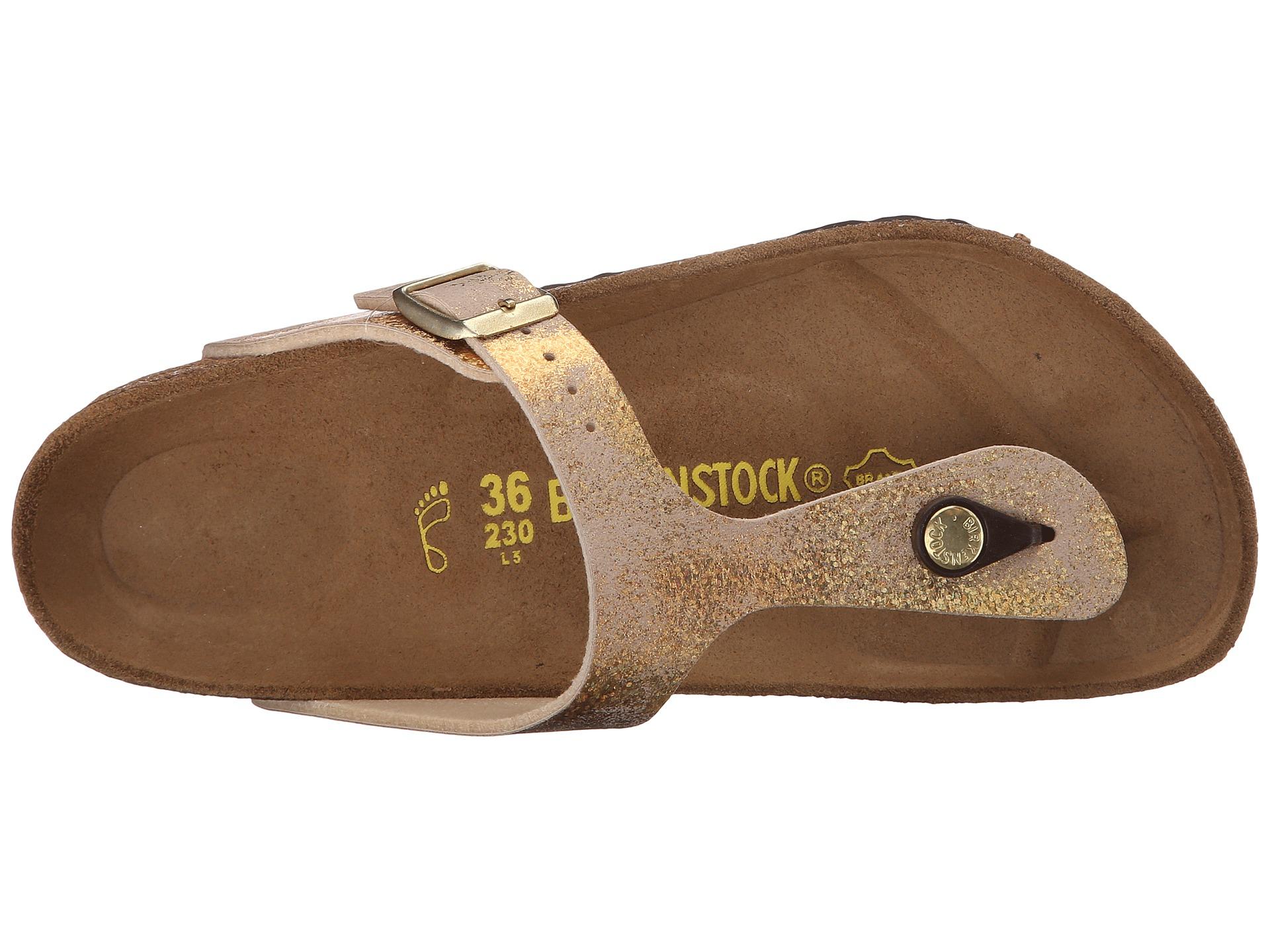 sports shoes c8269 96fab Birkenstock Gizeh in Metallic - Lyst