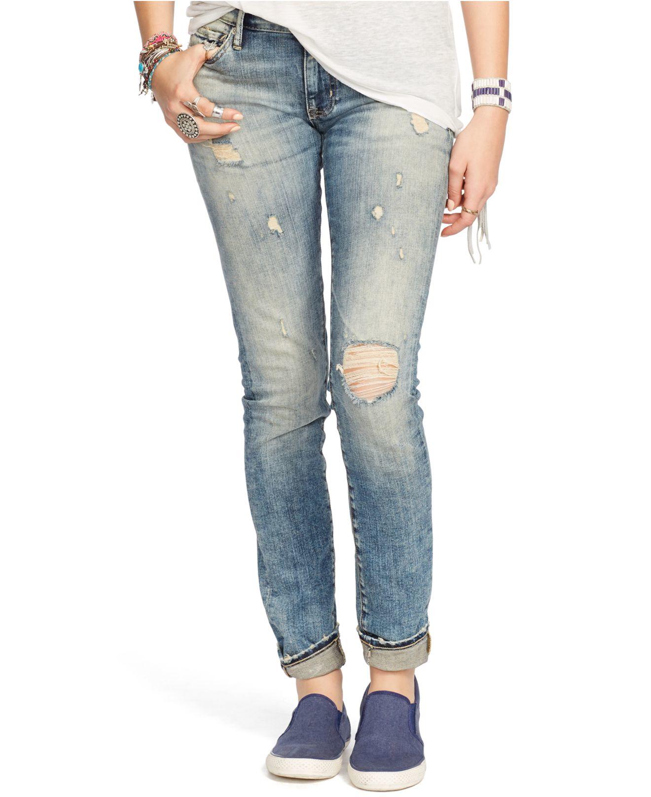 ee9244b90 Denim   Supply Ralph Lauren Oceanside Skinny Jeans in Blue - Lyst