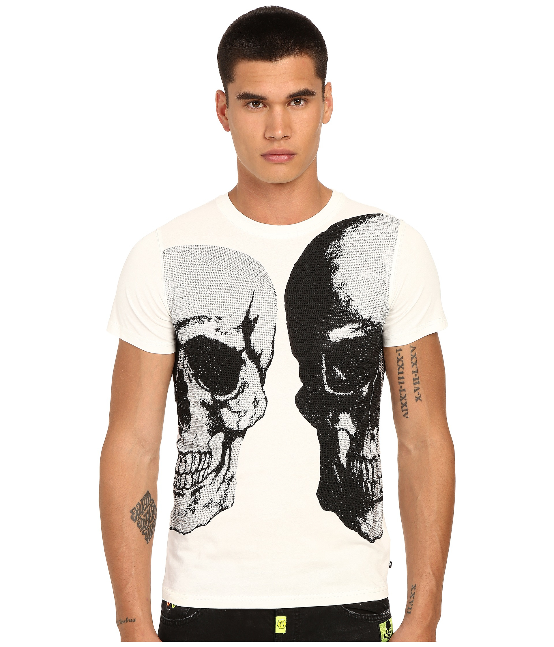 philipp plein bipolar t shirt in white for men lyst. Black Bedroom Furniture Sets. Home Design Ideas