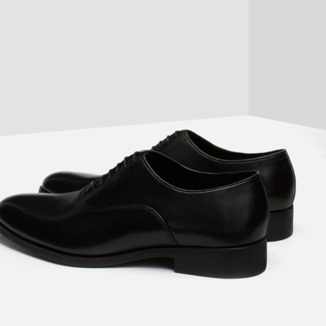 Brilliant Zara Grosgrain And Leather Oxford Shoe In Brown For Men Leather
