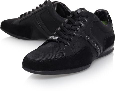 hugo boss nos spacit sneaker in black for men lyst. Black Bedroom Furniture Sets. Home Design Ideas