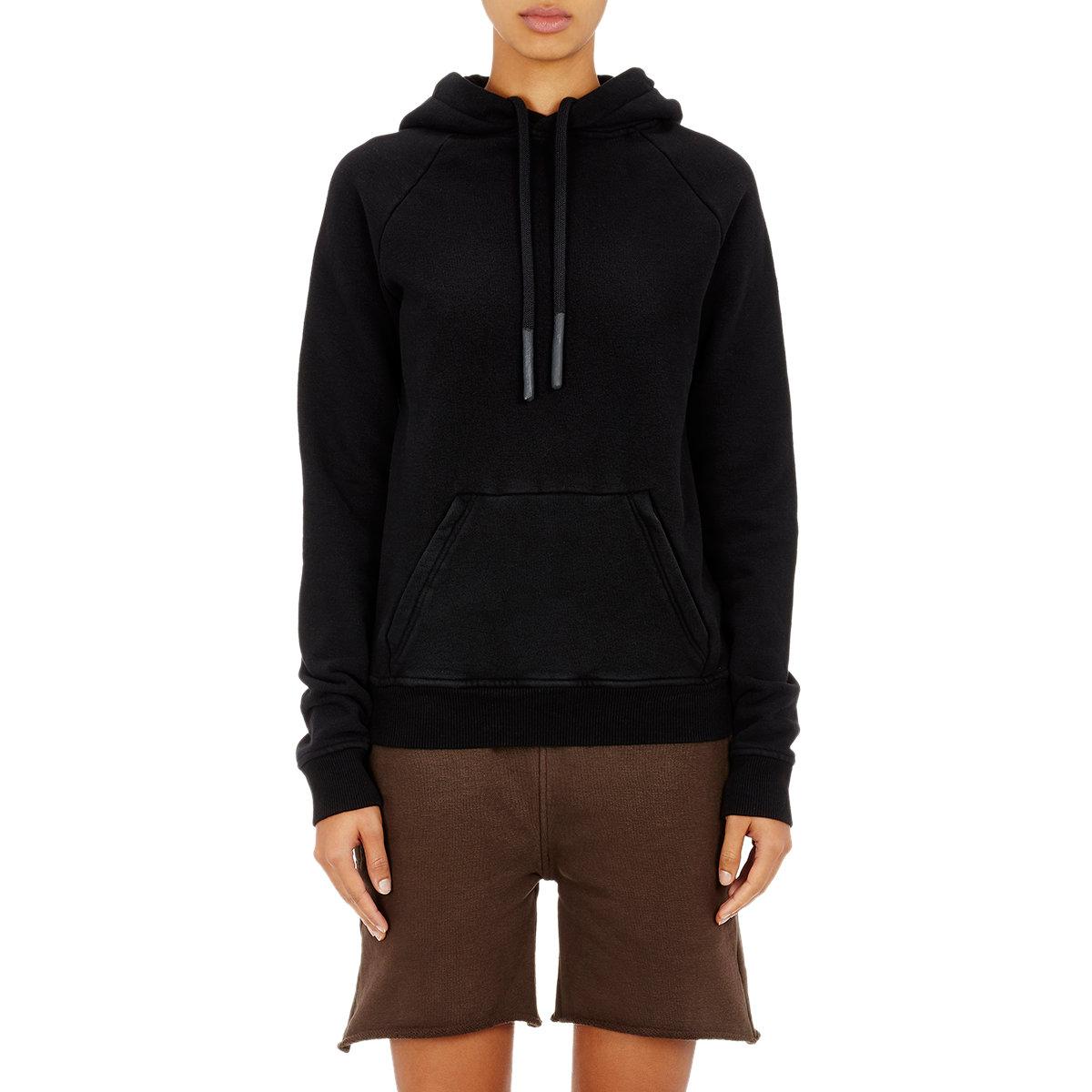 yeezy kangaroo pocket hoodie in black lyst. Black Bedroom Furniture Sets. Home Design Ideas