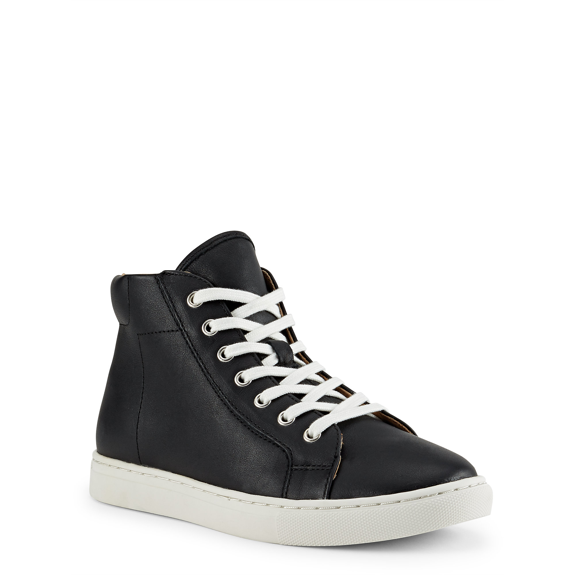 polo ralph lauren leather high top sneaker in black lyst. Black Bedroom Furniture Sets. Home Design Ideas
