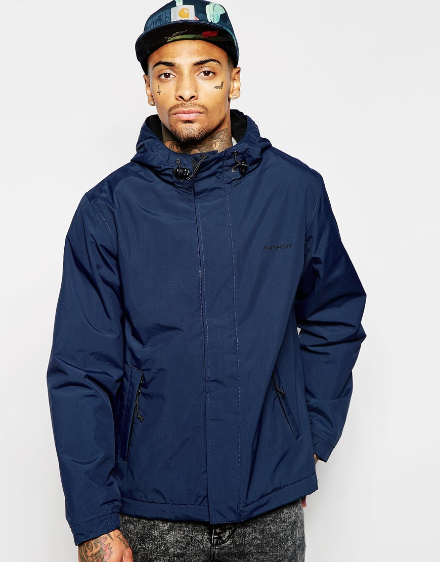Carhartt Neil Jacket With Hood in Navy (Blue) for Men - Lyst