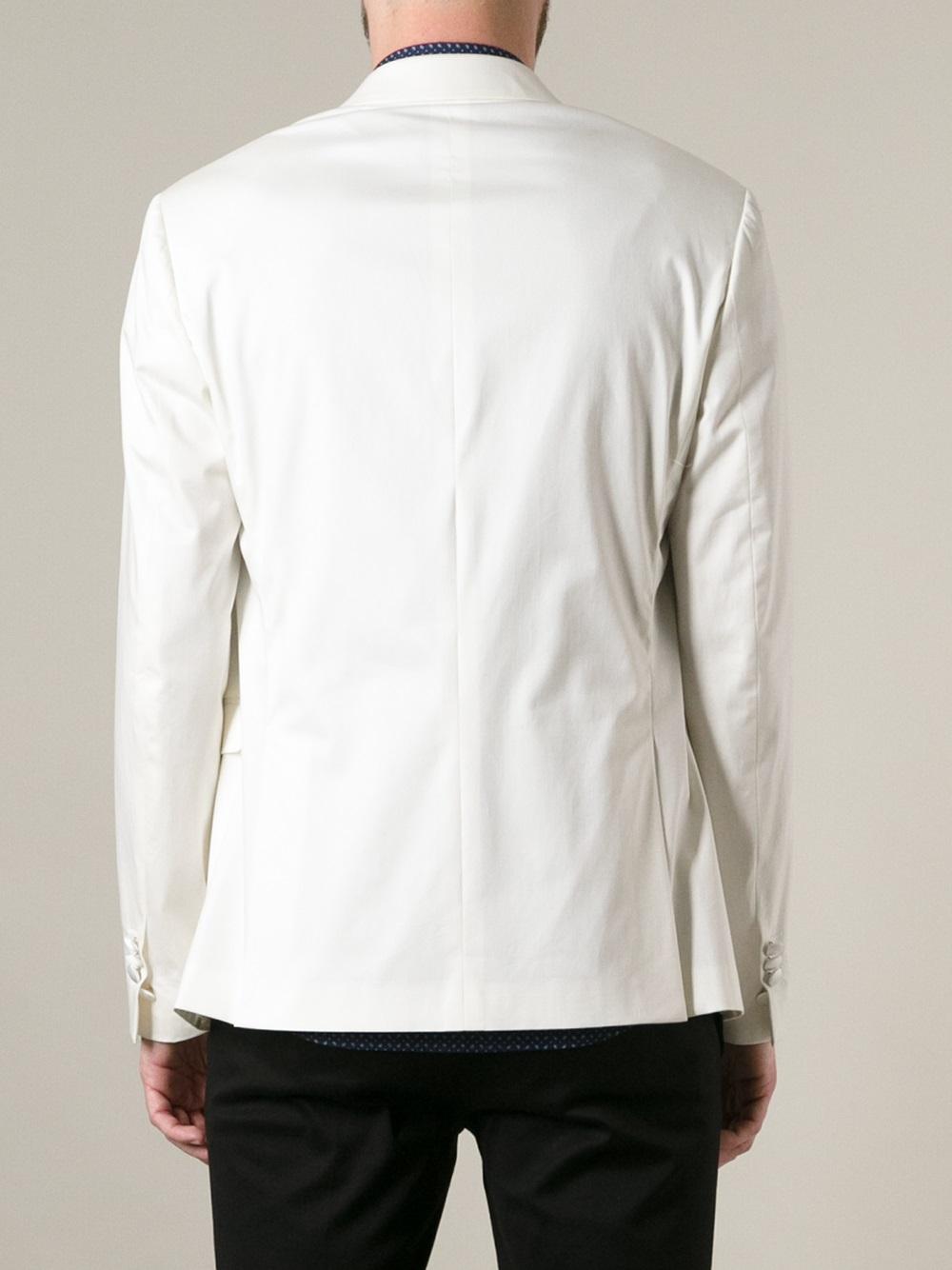 Neil Barrett Two Button Dinner Jacket in White for Men - Lyst