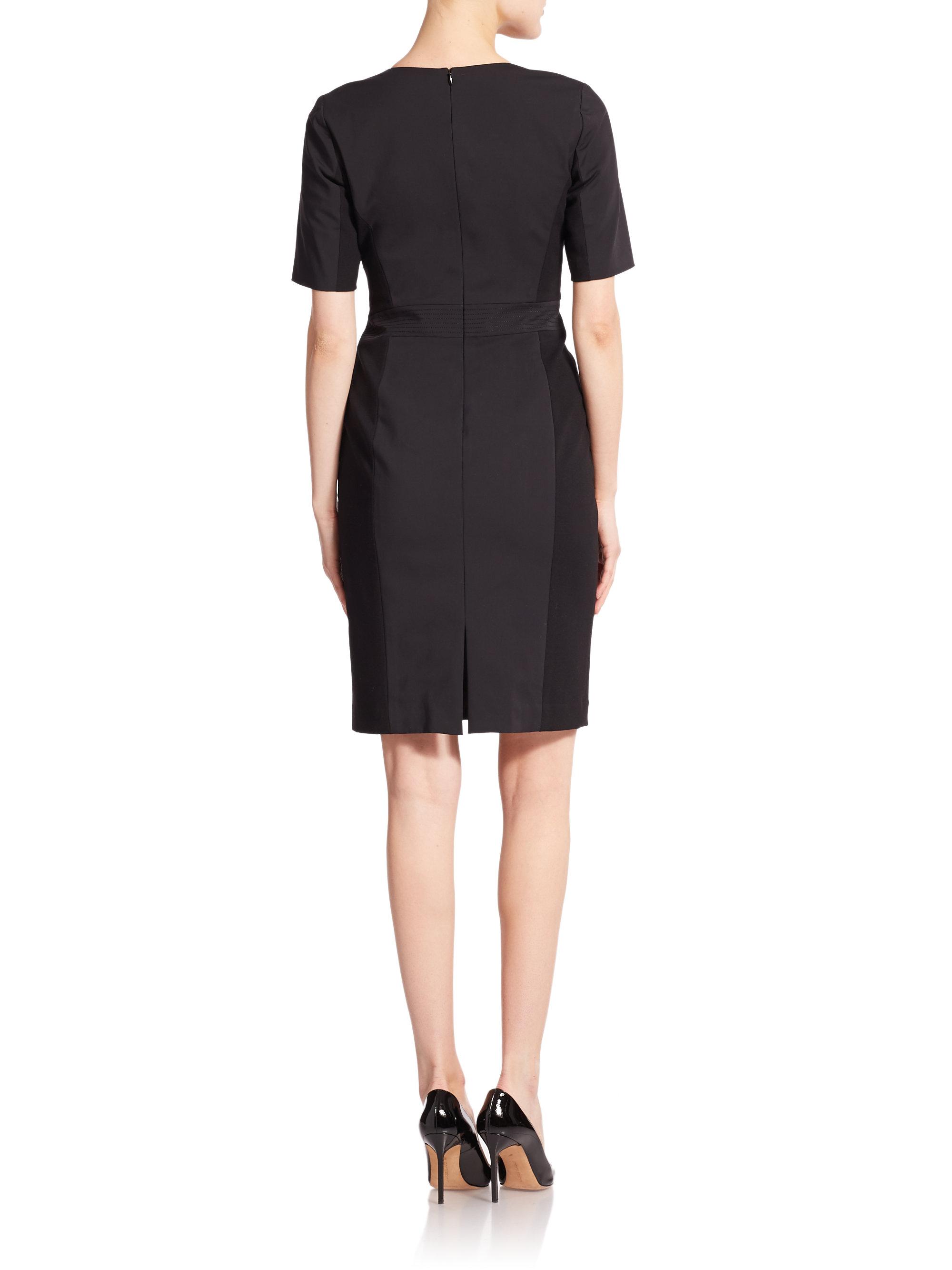 Lyst Lafayette 148 New York Akira Sheath Dress In Black